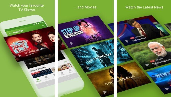 watch live tv and movies