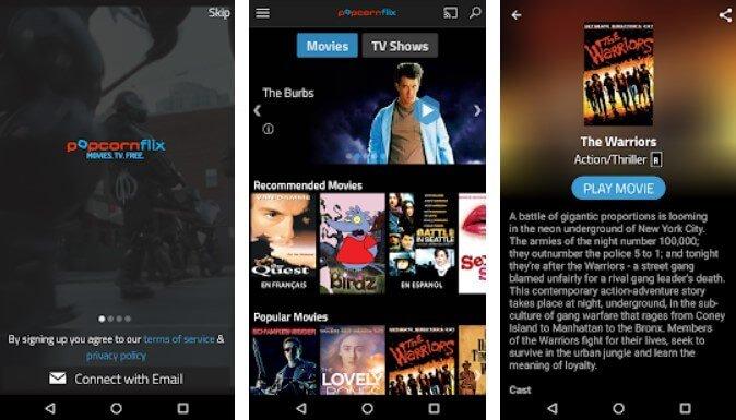 app where u can watch free movies