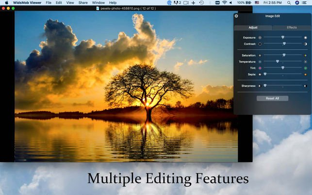 multiple editing features