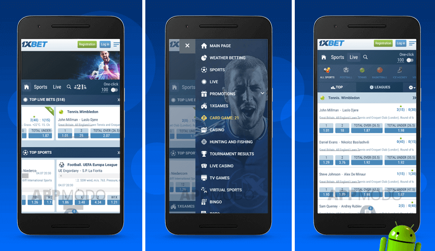 android 1xbet