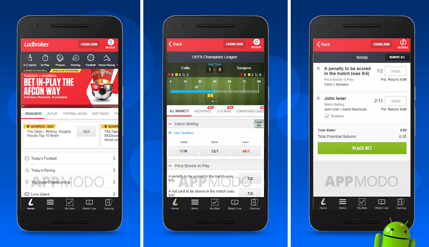 ladbrokes sports betting app for android