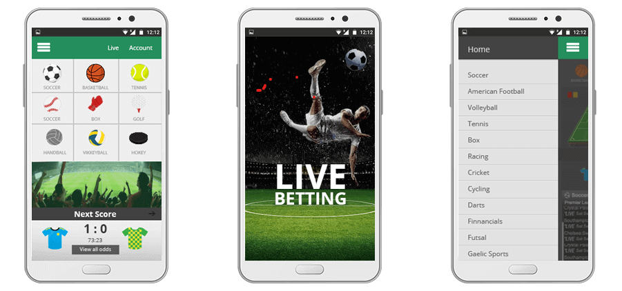 mobile betting app features