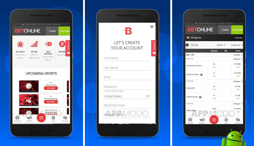 Betonline Android app