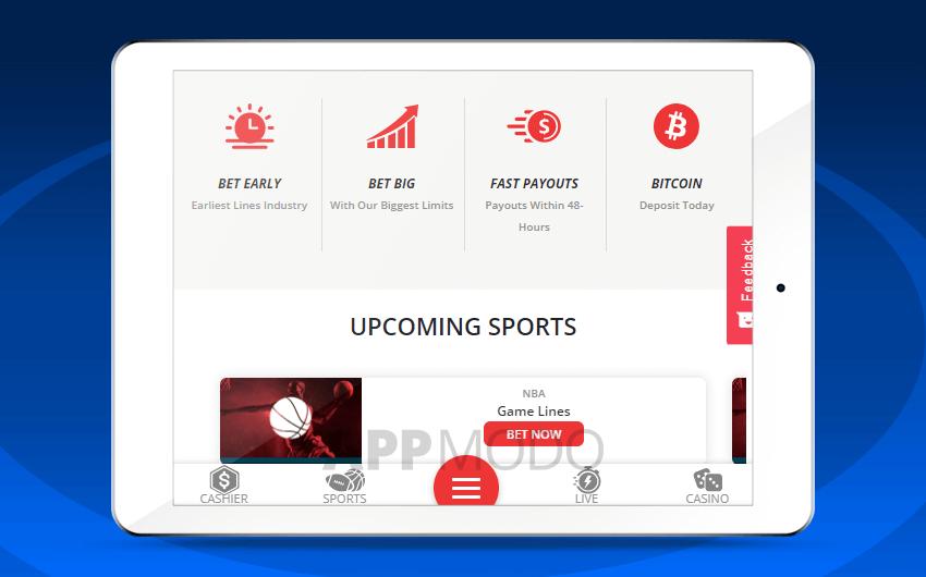 Betonline mobile site