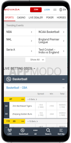 Bovada mobile sportsbook