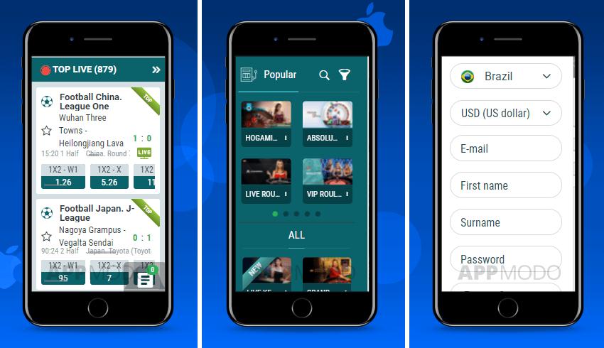 22Bet iOS betting app