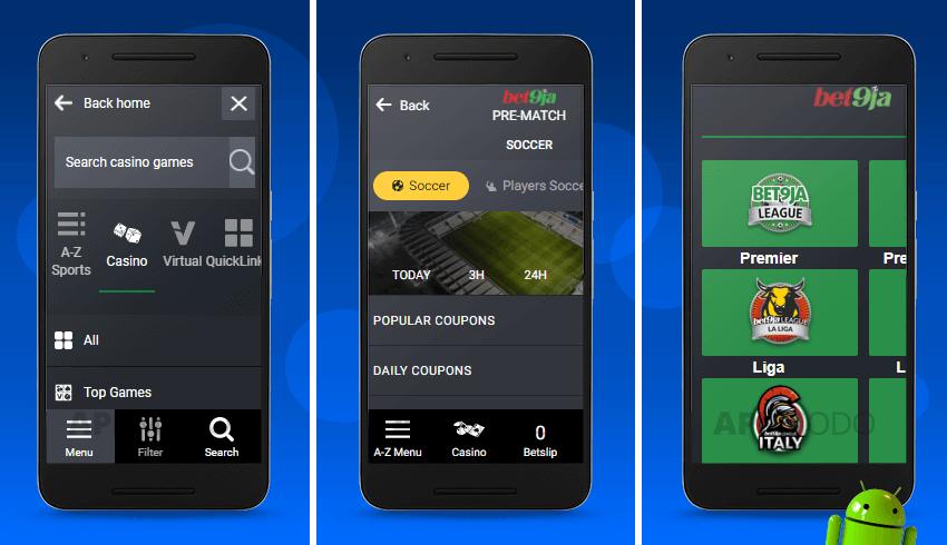 Bet9ja Android betting app