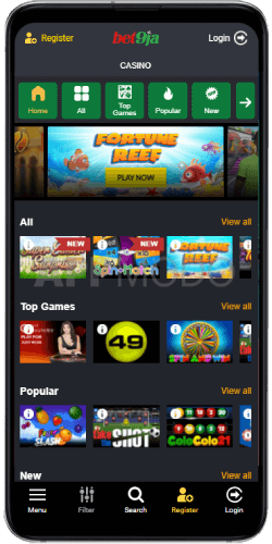Bet9ja casino mobile app