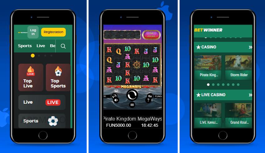 Betwinner iOS app