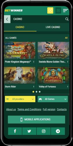 Betwinner mobile casino