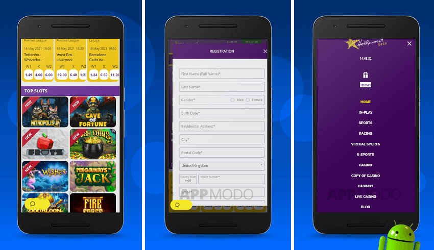 Hollywoodbets Android app